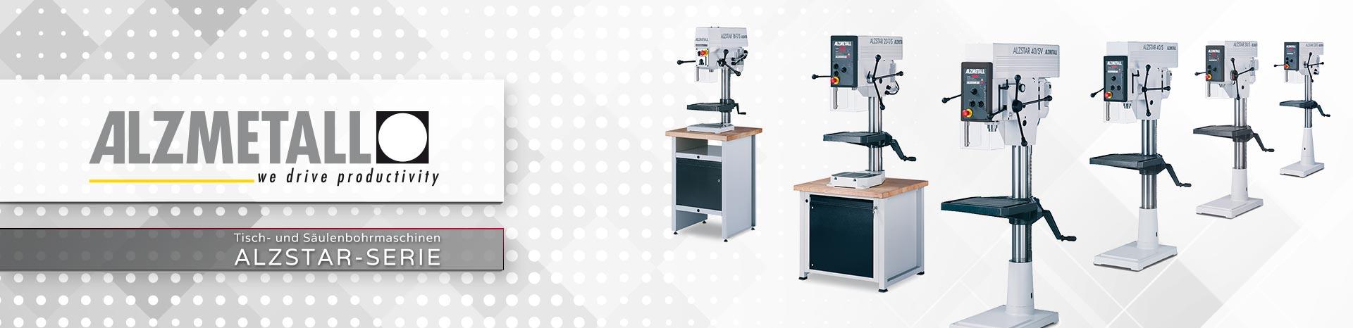 Die Alzstar-Serie in der Übersicht | Säulen- und Tischbohrmaschinen