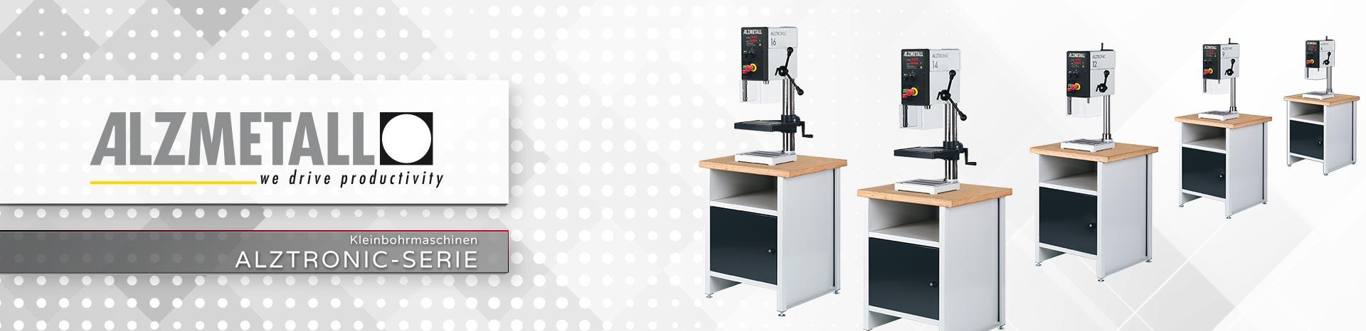 Die ALZTRONIC-Serie in der Übersicht | Säulen- und Tischbohrmaschinen