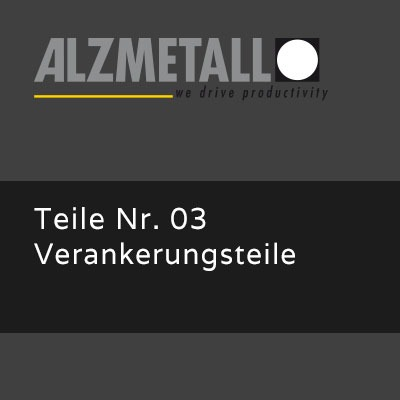 ALZSTAR-Option: Verankerungsteile