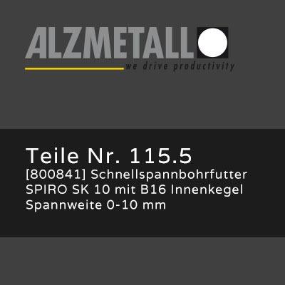 Alzmetall Alztronic 16 Option: Schnellspannbohrfutter SPIRO SK 10