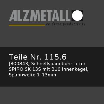 Alzmetall Alztronic 16 Option: Schnellspannbohrfutter SPIRO SK 13S