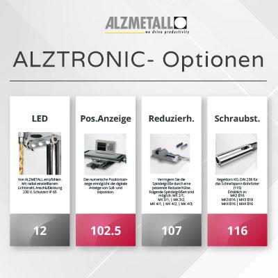 Alle Optionen für die Alzmetall ALZTRONIC-Serie