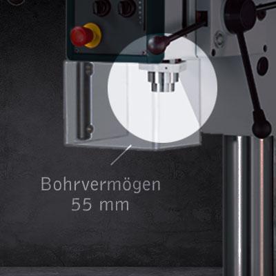 Highlight der AX 4/SV: Bohrvermögen von 55mm