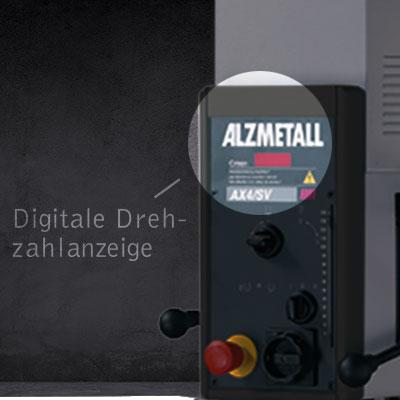 Highlight der AX 2/S: DIe Digitale Drehzahlanzeige