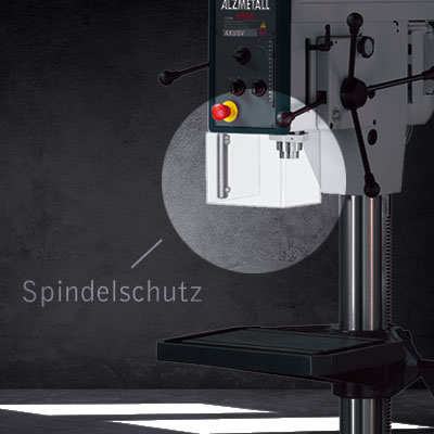 Highlight der AX 3/S: Der Spindelschutz