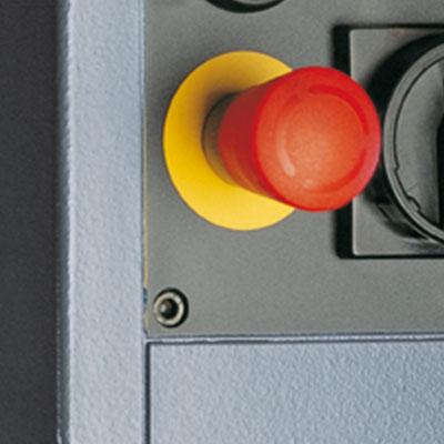 Besonderheit der ABFLOW 40/HST: Ein Pilzdruckschalter für hohe Sicherheit