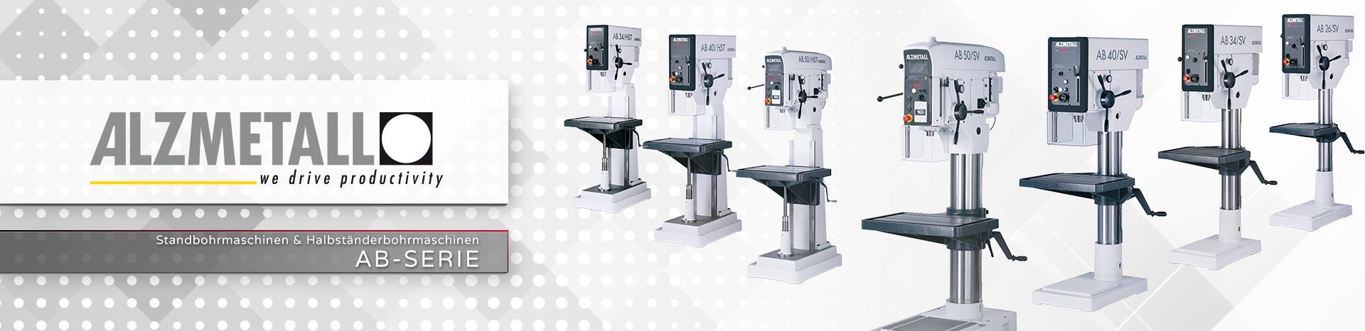Die AB-Serie in der Übersicht | Säulen- und Halbständerbohrmaschinen