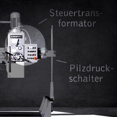 Pilzdruckschalter als Highlight der AB 30/R-Modelle