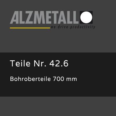 Bohroberteile 700mm als Option für Alzmetall RFT 3