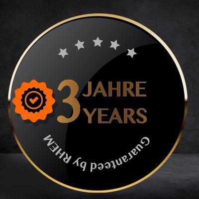 3 Jahre Garantie-Award